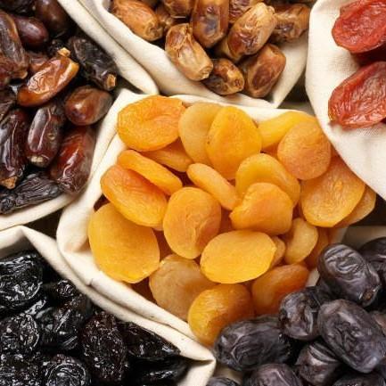Frutas deshidratada